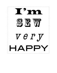 I'm SEW very Happy