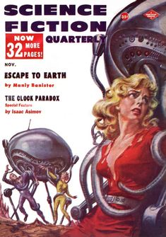 Escape To Earth – Pulp Covers Science Fiction Magazines, Pulp Fiction Art, Science Fiction Art, Pulp Art, Sci Fi Novels, Sci Fi Books, Sci Fi Fantasy, Fantasy Books, Pulp Magazine