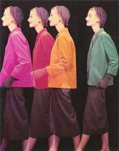 'Revolving' by Erwin Blumenfeld, New York, 1950.
