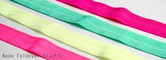NEON Foldover Elastics.  These have been VERY popular this spring/summer season!