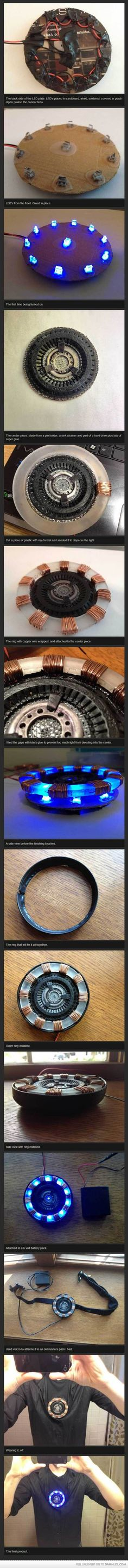 Tony Stark's miniaturized Arc Reactor tutorial