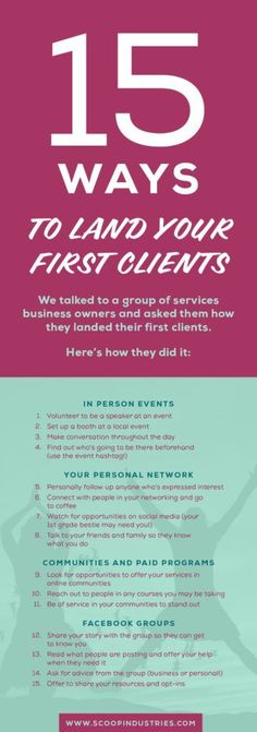 We invited business owners to share how they found their first clients in this tell all post. From family to Facebook groups to friends from first grade, these stories of how to find clients will help you get inspired. Click through to read the full post. #businesstips #startup #entrepreneur