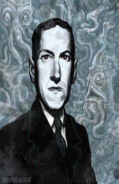 H.P. Lovecraft Portrait, via Etsy.