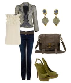 olive green - great outfit!