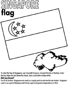 Singapore Flag Colouring Page Free Printable Download