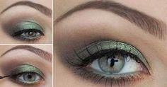 Zeleno zlaté líčenie pre zelené oči • Akadémia Krásy
