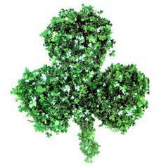 St. Patrick's Day Green Shamrock Shaped Wreath