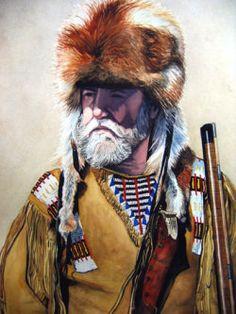 mountain men prints   Mountain Man (22x30 Watercolor)