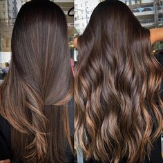 Side Swept Waves for Ash Blonde Hair - 50 Light Brown Hair Color Ideas with Highlights and Lowlights - The Trending Hairstyle Balayage Straight Hair, Hair Color Balayage, Dark Brunette Balayage Hair, Straight Brunette Hair, Straight Hair Highlights, Brown Straight Hair, Bayalage, Ombre Hair, Front Hair Styles