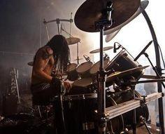 Frost (of Satyricon and 1349... formerly of Gorgoroth, Zyklon-B, Gehenna, etc.). Real name: Kjetil-Vidar Haraldstad.
