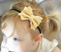 Baby Girl Headbands // Baby Headbands // Mustard by wildjuniper, $14.00