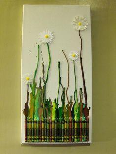 Craft & DIY Inspiration- Melted crayon art