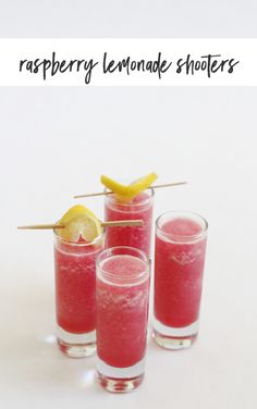 This raspberry lemonade shooter recipe is the perfect frosty cocktail for a hot day! Just two ingredients but packed full of great flavor. Liquor Drinks, Cocktail Drinks, Fun Drinks, Yummy Drinks, Cocktail Recipes, Cocktail Ideas, Yummy Food, Punch Recipes, Alcohol Recipes
