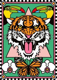 66 New Ideas For Design Illustration Tropical Jungle Illustration, Graphic Design Illustration, Graphic Art, Art Pop, Tropical Art, Tropical Design, Tropical Flowers, Geometric Patterns, Jungle Art