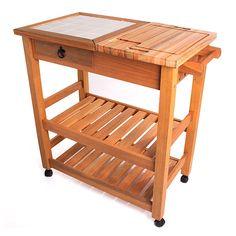Carrinho Gourmet Grande Jatobá - Wood Prime
