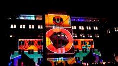 Lights on MCA building