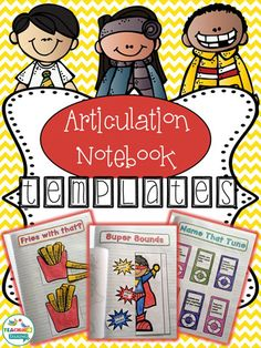 Articulation Notebook Templates Speech Therapy Activities by teachingtalking.com