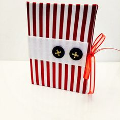 Red Striped Earring Book for Travel or Storage by TheElegantLady, $15.00