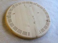 Blank Round Pine Cribbage Board