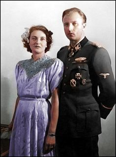 Gretl Braun and Hermann Fegelein in June 1944