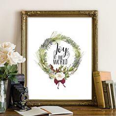 Joy to the world Christmas printable Christmas by SoulPrintables