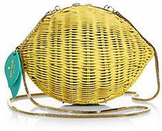 Kate Spade Lemon Wicker Shoulder - love a bag with a sense of humor
