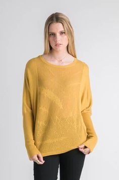 In a gorgeous golden mustard, this Jacquard Sweater is this seasons must have piece. With its bangin batwing sleeve it will lift any outfit and add a sense of v Batwing Sleeve, Must Haves, Pullover, Stitch, Sleeves, Sweaters, Gold, Outfits, Clothes
