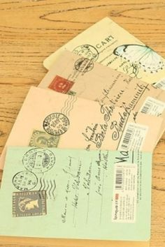Schriftjes - kraft carte postale - Postpapier enzo