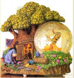 For Easter Winnie the Pooh Snow Globe