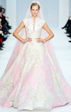 Elie Saab Spring Couture 2012 pastel gowns are pretty amazing. Making for the perfect unexpected wedding gown.
