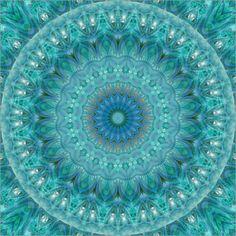 Poster Mandala leuchtender Opal von Christine Bässler bei posterlounge.de