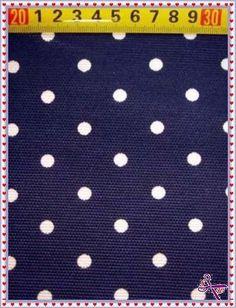 Canvas-Stoff Motiv-Dots/Punkte blau-weiß von *Stoffe für Kreative* auf DaWanda.com