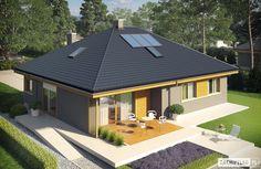 Projekt domu Flo - Projekty domów ARCHIPELAG - Flo - wizualizacja widok z góry