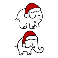 Cute Christmas Elephant Cuttable Design Cut File. Vector, Clipart, Digital Scrapbooking Download, Available in JPEG, PDF, EPS, DXF and SVG. Works with Cricut, Design Space, Cuts A Lot, Make the Cut!, Inkscape, CorelDraw, Adobe Illustrator, Silhouette Cameo, Brother ScanNCut and other software.