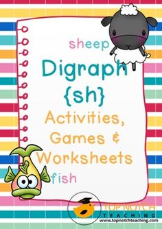 This pack includes fun, hands on activities and games for teaching the digraph 'sh'. These activities are great for individual or small group work. There are also posters that can be used for display and word wall cards that can be added to a word wall or