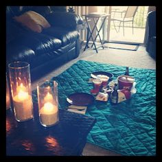 Date night idea: Living Room Picnic!   Delightful Diction: Sunday Selection
