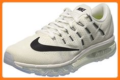 on sale cb26c 6b424 Nike Women s Air Max 2016 Summit White White Black Mesh Running Shoes 9 M
