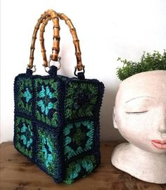 Granny Style, Pure Silk, Congratulations, Bamboo, Etsy, Shoulder Bag, Pure Products, Crochet, How To Make