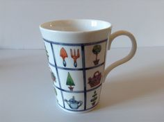 Crown Regal Fine Bone China Coffee Tea Mug Cup Gardening Plant Made In England by afunspottoshop on Etsy