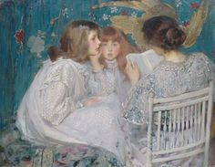 Children's Hour in Oil Painting ~ Blog of an Art Admirer