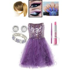Purple Prom Look