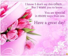 Dgreetings.......      You r special........<3