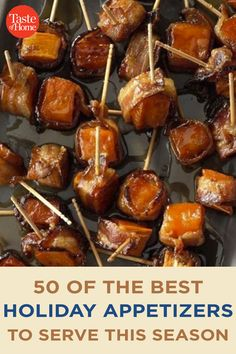 50 of the Best Holiday Appetizers to Serve This Season Warm Appetizers, Best Holiday Appetizers, Appetizers For A Crowd, Holiday Snacks, Food For A Crowd, Appetizer Recipes, Holiday Recipes, Dinner Recipes, Cooking Recipes