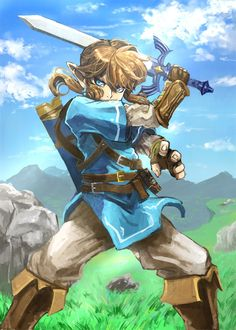 Link from Breath of the Wild by @madarame01   #BOTW