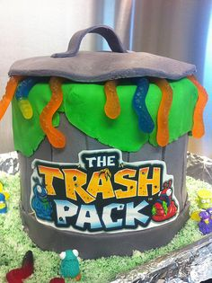 Jaxon's 9th Birthday Trash Pack cake.