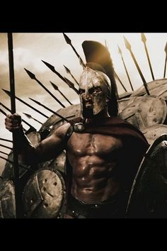 King Leonidas in 300 is flat out a man's man. he is a born leader and has an uncompromising will to be the best. His masculinity radiates on screen through his impressive size and strength but more-so his dominating character
