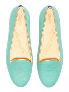 Chatelles: New Summer Collection ... turquoise smoking slippers flats loafers