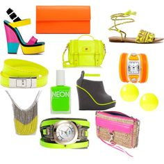 Incorporating Neon Spring 2012, created by fancyfrancy on Polyvore
