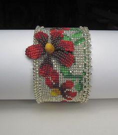 Красный конус цветок ткацкий станок манжеты
