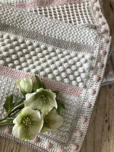 Spring Sampler Shawl CAL with Kate Eastwood and bonus baby blanket pattern! Crochet Afghans, Crochet Baby Blanket Beginner, Crochet Quilt, Crochet Blanket Patterns, Love Knitting, Baby Knitting, Easy Crochet Projects, Crochet Crafts, Bobble Stitch